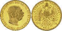 100 Corona Autriche-Hongrie (1867-1918) Or Franz Joseph I (1830 - 1916)