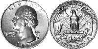 25 Cent USA (1776 - ) Silver-Copper George Washington