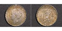 1 Gulden Kingdom of the Netherlands Silver Wilhelmina of the Netherlands (1880 - 1962)