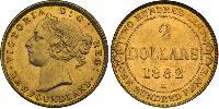 2 Dollar Newfoundland and Labrador Gold Victoria (1819 - 1901)