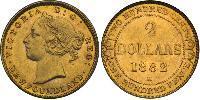 2 Долар Newfoundland and Labrador Золото Вікторія (1819 - 1901)