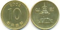 10 Won North Korea Brass
