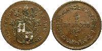 0.5 Baiocco Vaticano (1926-) Rame Papa Pio IX (1792- 1878)