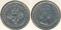1/4 Rupee Mauritius Copper-Nickel