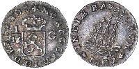 1/16 Gulden Kingdom of the Netherlands Silver