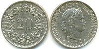 20 Centime Switzerland Copper-Nickel