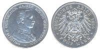 5 Mark Germany Silvered