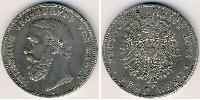5 Mark Grand Duchy of Baden (1806-1918) Silver
