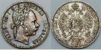 1 Florin Austria-Hungary (1867-1918) Silver Franz Joseph I (1830 - 1916)