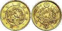 2 Yen Empire du Japon (1868-1947) Or Meiji the Great (1852 - 1912)