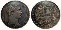 5 Franc First French Empire (1804-1814)  Napoleon Bonaparte  (1769 - 1821)