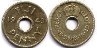1 Penny Fiji  George VI (1895-1952)