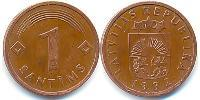 1 Centime Latvia (1991 - ) Nickel plated steel