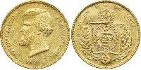 20000 Reis Empire of Brazil (1822-1889) Gold Pedro II of Brazil (1825 - 1891)