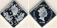 5 Доллар Тувалу Серебро