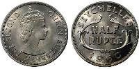 1/2 Rupee Seychelles Copper-Nickel Elizabeth II (1926-)
