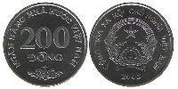 200 Dong Vietnam Nickel plated steel