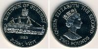 2 Pound Guernsey Copper-Nickel