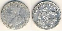 3 Penny Australia (1788 - 1939) Plata