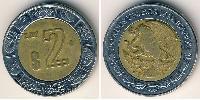 2 Peso United Mexican States (1867 - ) Bimetal