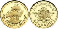 100 Dollar Barbados Gold