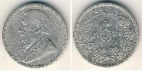 6 Penny Südafrika Silber