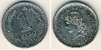 1 Peso Argentina (1816 - ) Nickel plated steel