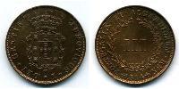 3 Reis Regno del Portogallo (1139-1910) Rame