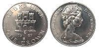 1 Crown Gibraltar Copper-Nickel Elizabeth II (1926-)
