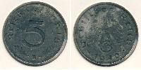 5 Pfennig Nazi Germany (1933-1945) Zinc