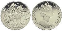 25 Pound / 35 Ecu Gibraltar Silver Elizabeth II (1926-)