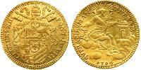 1 Zecchino Estados Pontificios (752-1870) Oro Clemente XIII (1693 -1769)