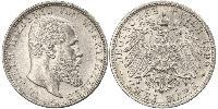 2 Mark Empire allemand (1871-1918) Argent