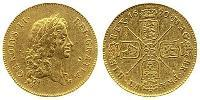 5 Guinea Kingdom of England (927-1649,1660-1707) Gold Charles II (1630-1685)