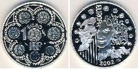 1 Евро Пятая французская республика (1958 - ) Серебро