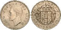 1/2 Crown New Zealand Copper-Nickel George VI (1895-1952)