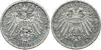 2 Mark States of Germany Argent