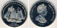 1 Krone Tristan da Cunha Copper-Nickel Elizabeth II (1926-)