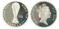 2 Dollar Fidschi Silber Elizabeth II (1926-)