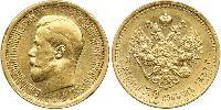 7 ½ Ruble Russian Empire (1720-1917) Gold Nikolay II (1868-1918)
