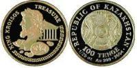 100 Tenge Kazakhstan (1991 - ) Gold