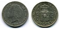 50 Centimo Kingdom of Spain (1874 - 1931) Silver