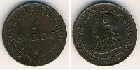 1/2 Soldo Papal States (752-1870) Copper Pope Pius IX (1792- 1878)