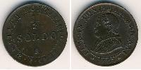 1/2 Soldo Estados Pontificios (752-1870) Cobre Pío IX (1792- 1878)