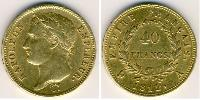 40 Franc First French Empire (1804-1814) Gold Napoleon Bonaparte  (1769 - 1821)