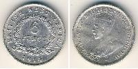 6 Penny África Occidental Británica (1780 - 1960) Plata Jorge V (1865-1936)