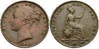 1 Farthing United Kingdom of Great Britain and Ireland (1801-1922) Copper Victoria (1819 - 1901)