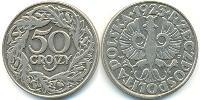 50 Grosh Second Polish Republic (1918 - 1939) Nickel