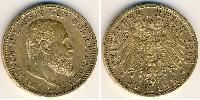 20 Марка Великое герцогство Баден (1806-1918) Золото