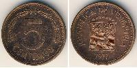 5 Centimo Venezuela Copper plated steel